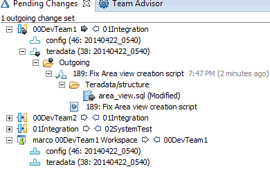 Managing Teradata changes with RTC SCM and Jazz Build
